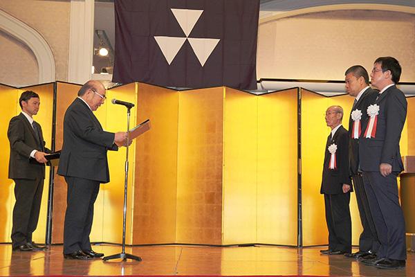 相撲部功労者への表彰