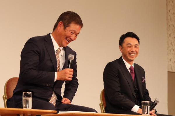 片岡 篤史OB(左) 宮本 慎也OB(右)