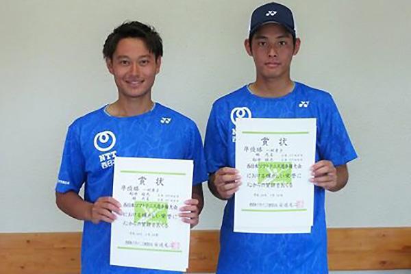 優勝NTT西日本・右側:林 大喜