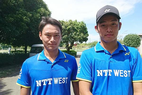 林選手(右)