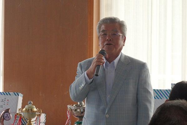 豊原洋治同志社スポーツユニオン会長挨拶