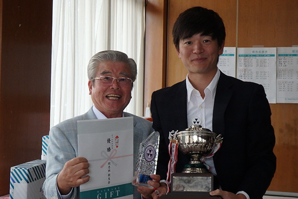 個人ジュニア優勝 原田達也氏(ゴルフ部)