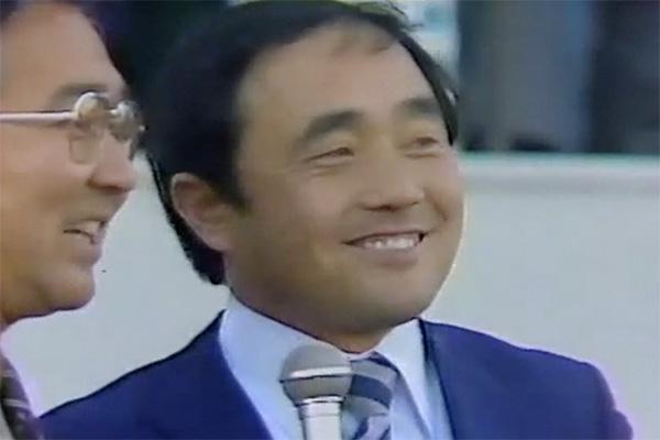 1981年大学選手権直後のインタビューで