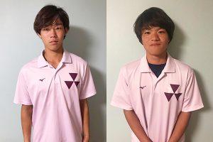 左:上岡 俊介(大阪府上宮高出身)選手、右:林 誠太郎(香川県尽誠学園高校出身)選手