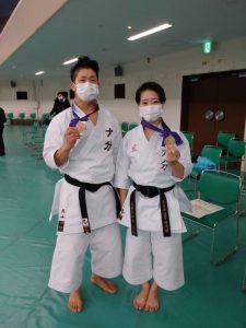(右)大野ひかる選手、(左)西山 走選手